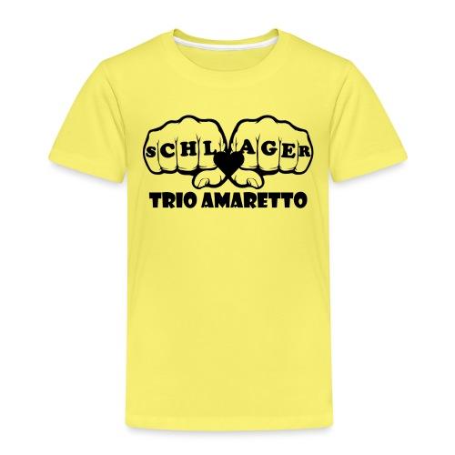 Black Print Trio Amaretto - Kinder Premium T-Shirt