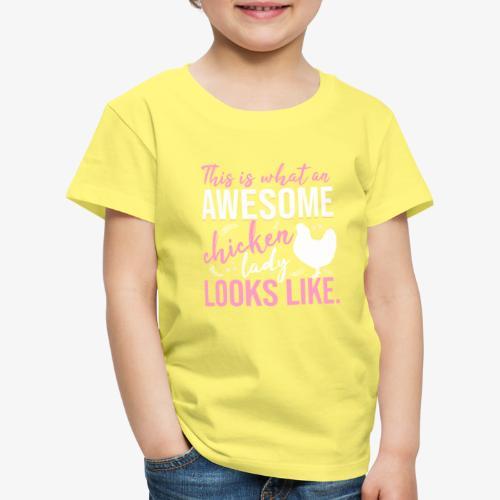 Awesome Chicken Lady 3 - Lasten premium t-paita