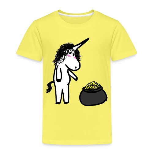 Oro unicorno - Maglietta Premium per bambini