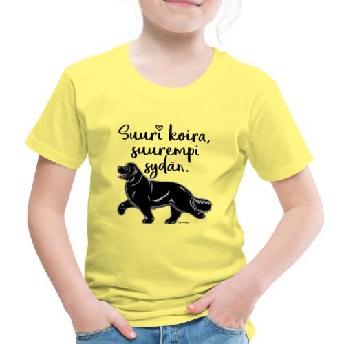 Newfoundlandin Nöffi Suuri2 - Lasten premium t-paita