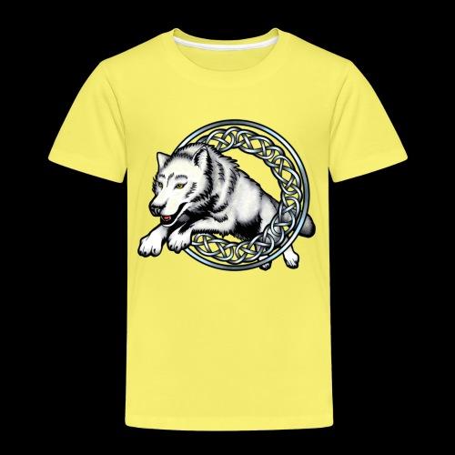 Leaping Wolf - Kids' Premium T-Shirt