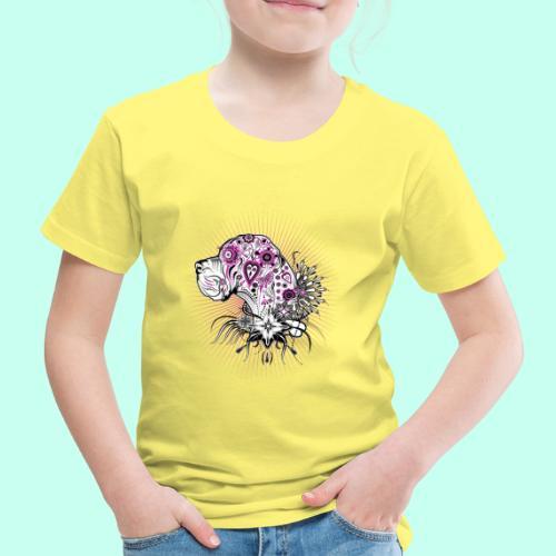 Doggen Portrait Tattoo Style - Kinder Premium T-Shirt