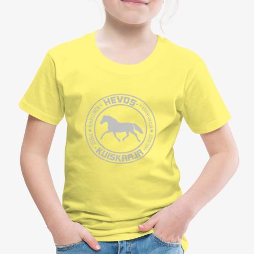 Hevoskuiskaaja Harmaa - Lasten premium t-paita