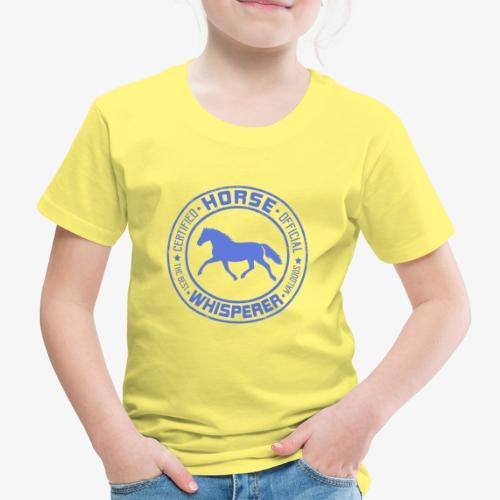 Horse Whisperer Blue - Lasten premium t-paita
