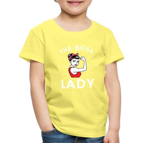 The Boss Lady - Lasten premium t-paita