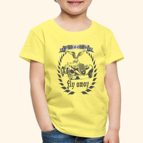 Oldtimer Oldschool fly away grau - Kinder Premium T-Shirt