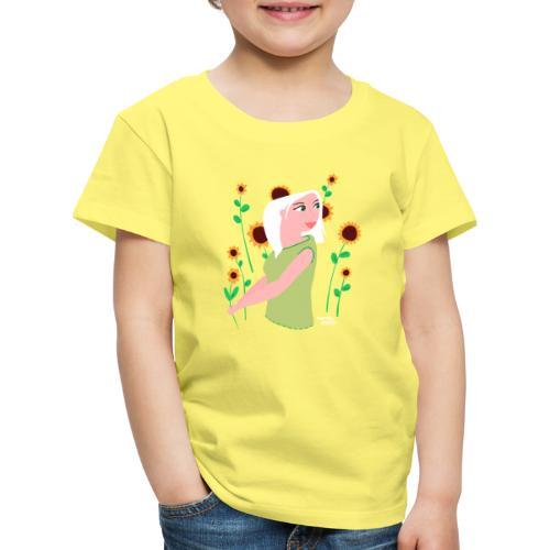 tournesols avec fille - T-shirt Premium Enfant