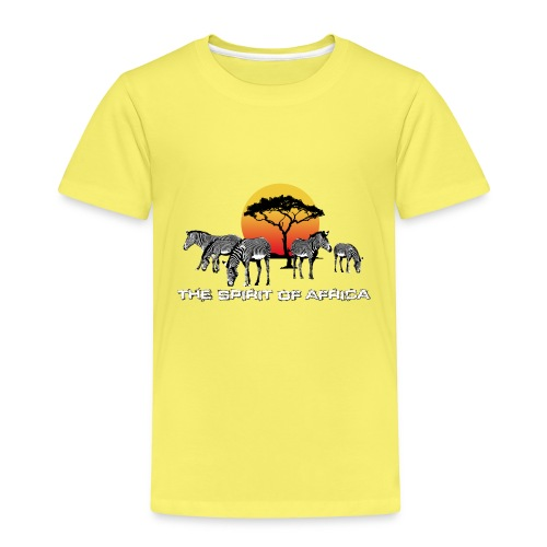 Spirit of Africa Zebra Afrika Sonne Savanne Safari - Kids' Premium T-Shirt