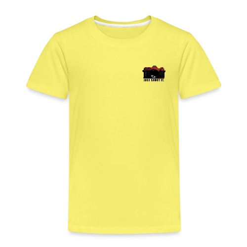 Black & Red Camera JUST SHOOT IT. - Kinder Premium T-Shirt