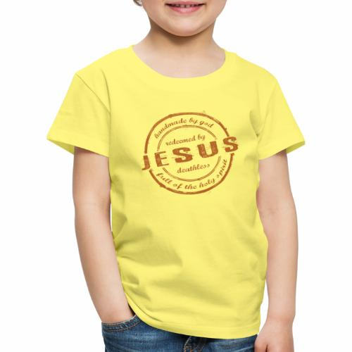 Redeemed by Jesus - Kinder Premium T-Shirt