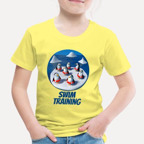 Pinguine beim Schwimmunterricht - Kids' Premium T-Shirt