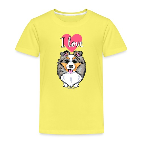 Sheltie Dog Love 3 - Kids' Premium T-Shirt