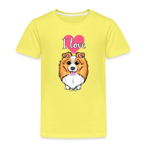 Sheltie Dog Love 2 - Kids' Premium T-Shirt