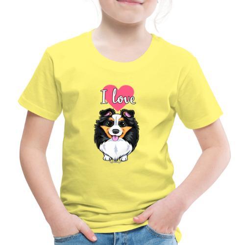 Sheltie Dog Love - Lasten premium t-paita