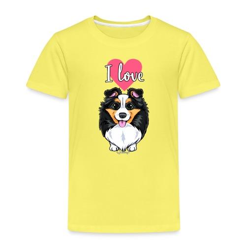 Sheltie Dog Love - Kids' Premium T-Shirt