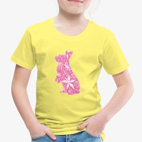 Flower Bunny II - Lasten premium t-paita