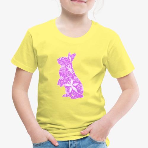 Flower Bunny IV - Lasten premium t-paita