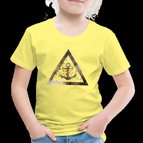 Galaxy Anchor Geometry Triangle - Kinder Premium T-Shirt