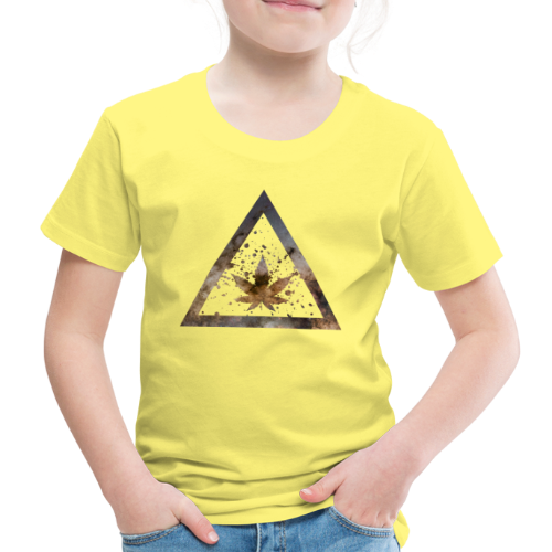 Galaxy Weed Marijuana Triangle with Splashes - Kinder Premium T-Shirt
