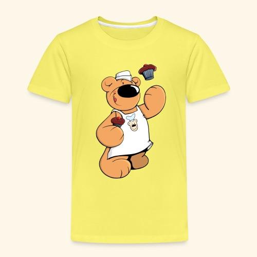 Der Bäcker Bär backt leckere Muffins - Kinder Premium T-Shirt
