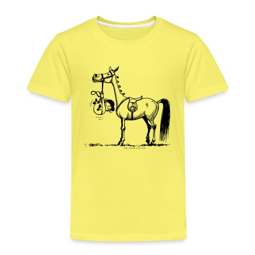 Thelwell Cartoon Stures Pony - Kinder Premium T-Shirt