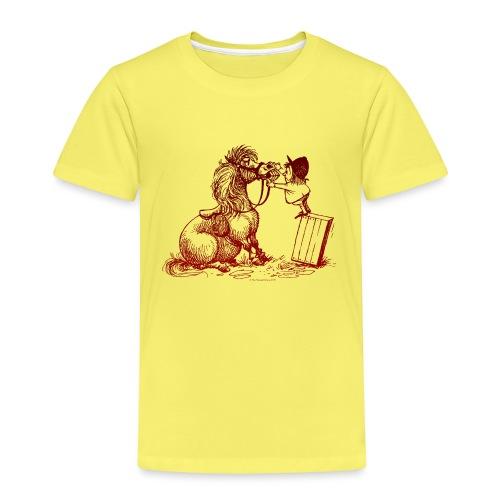 Thelwell Cartoon Pony bei der Zahnkontrolle - Kinder Premium T-Shirt