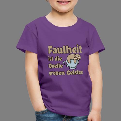 Faulheit - Kinder Premium T-Shirt
