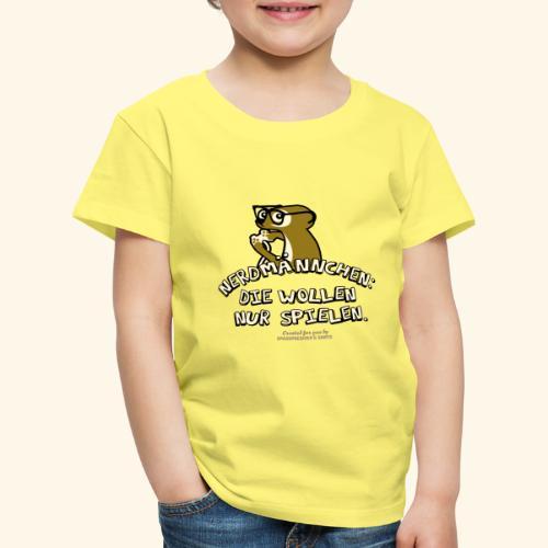 T-Shirt Nerdmännchen Erdmännchen für Geeks & Nerds - Kinder Premium T-Shirt