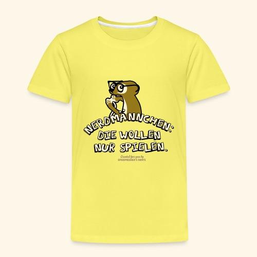 Nerdmännchen Erdmännchen Design für Geeks & Nerds - Kinder Premium T-Shirt