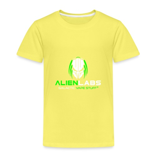 ALIEN LABS LOGO gre/wht - Kinder Premium T-Shirt
