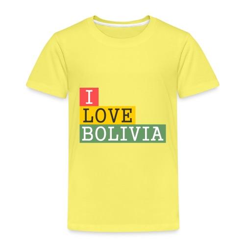 I Love Bolivia Tricolour - Camiseta premium niño