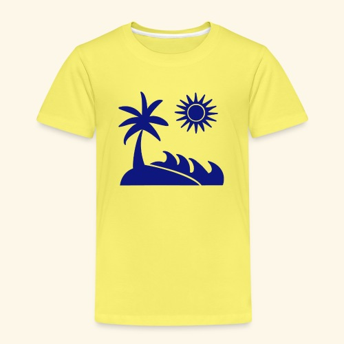 Palme, Meer, Sonne, Strand - Kinder Premium T-Shirt