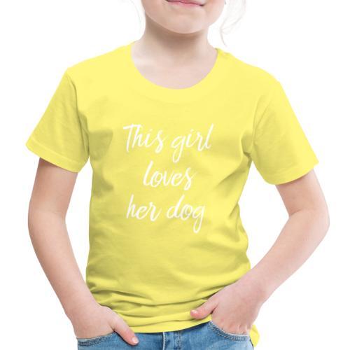 thisgirllovesherdog - Lasten premium t-paita