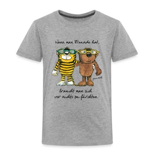 Janosch Tiger Und Bär Wenn Man Freunde Zitat - Kinder Premium T-Shirt