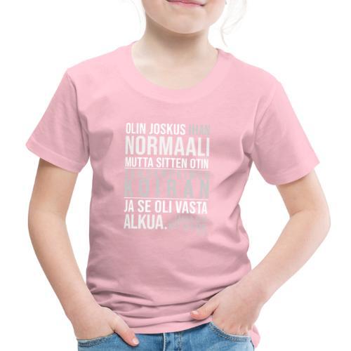 Vasta Alkua Seefferi III - Lasten premium t-paita