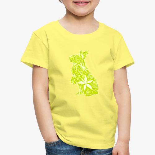 Flower Bunny Lime - Lasten premium t-paita