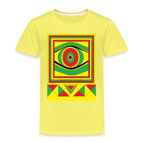 ALL seeing eye RASTA burn down babylon Original - Kinderen Premium T-shirt