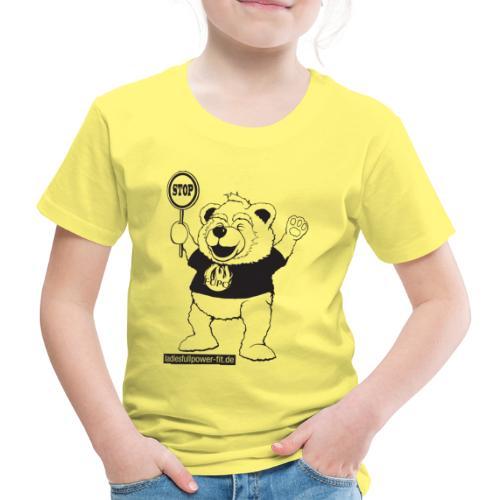 FUPO der Bär. Druckfarbe schwarz - Kinder Premium T-Shirt