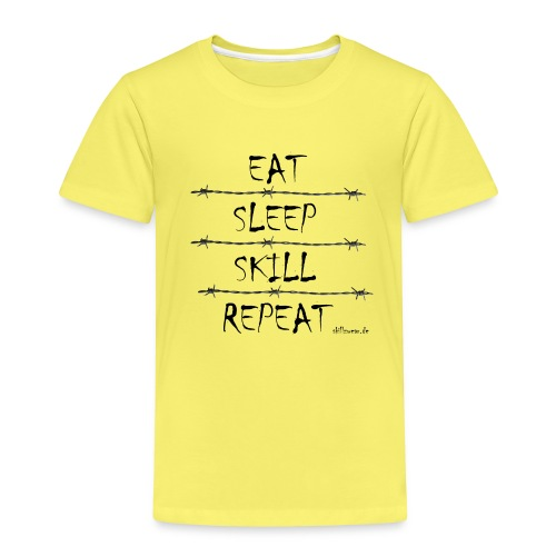 Eat Sleep Skill Repeat - Kinder Premium T-Shirt