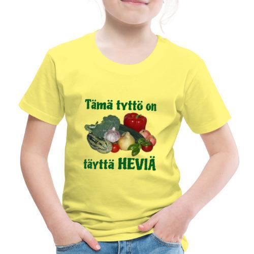 Tyttö täyttä heviä - Lasten premium t-paita