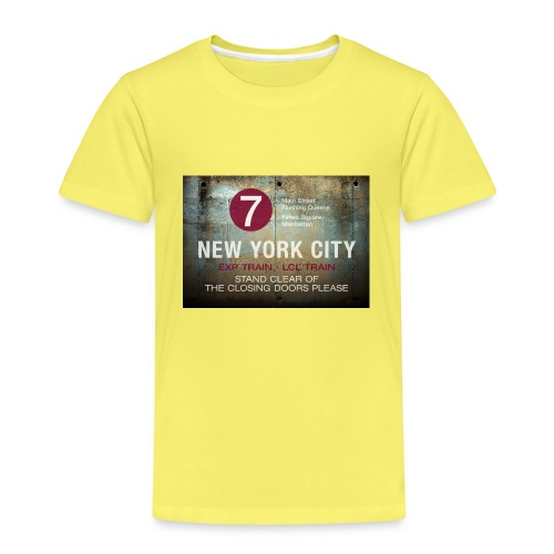 NYC subway stand clear of the closing doors please - Kids' Premium T-Shirt