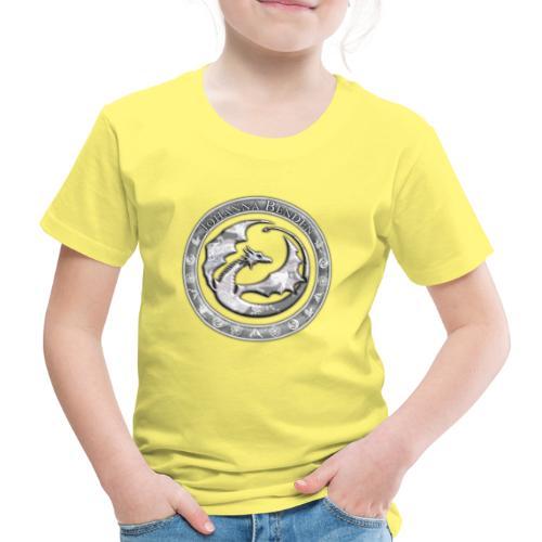 Drachenlogo Silberweiß - Kinder Premium T-Shirt