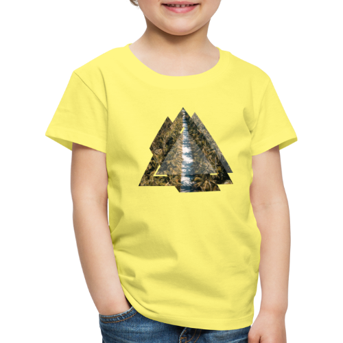 Triangle Tropical Palm Street - Kinder Premium T-Shirt