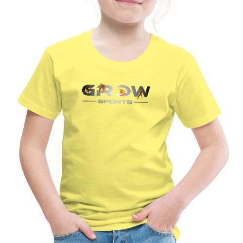 Grow Sports Light Orange Surf Ski Snowboard Climb - Kinder Premium T-Shirt