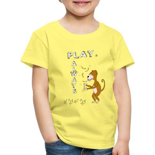 PLAY ALWAYS - JUGGLER MONKEY - Circus Lover - Maglietta Premium per bambini