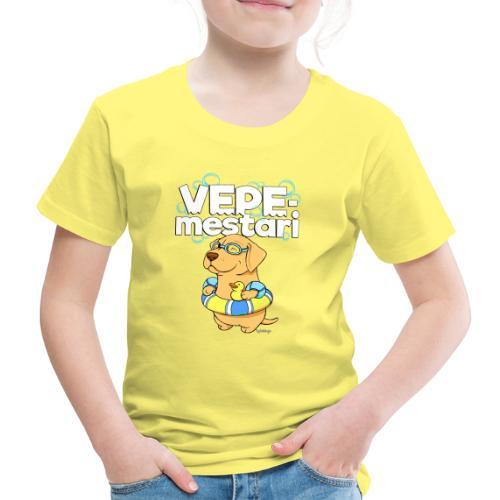 vepemestari3 - Lasten premium t-paita