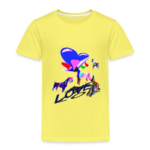 look at these dogs love - T-shirt Premium Enfant