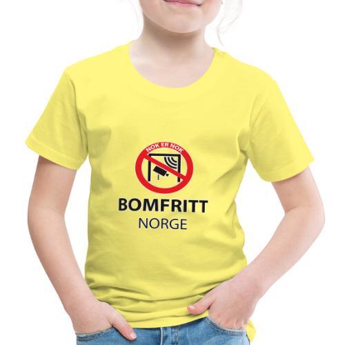 BOMFRITT NORGE 2019 SVART - Premium T-skjorte for barn