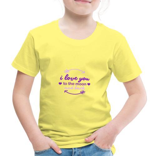 i lo ve you to the moon and back - Camiseta premium niño