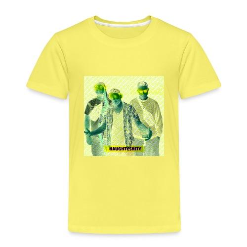 Naughtyshity yellow - Kinder Premium T-Shirt